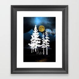 Full Moon Rising II Framed Art Print