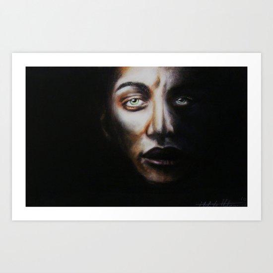 Man in Shadows Art Print