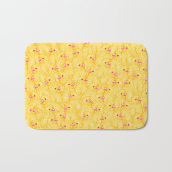 The Yellow Baby Chicks Club Bath Mat