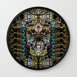 LOVE SKULL Wall Clock
