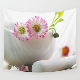 Wild herb kitchen Daisy Wall Tapestry