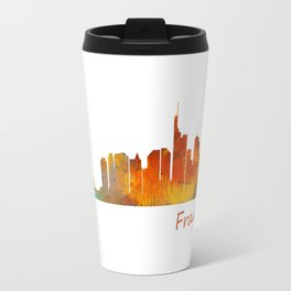 Frankfurt am Main, City Skyline, Citiscae art watercolor V1 Travel Mug