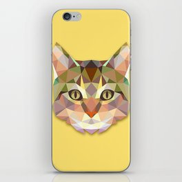 Geometric Cat iPhone Skin
