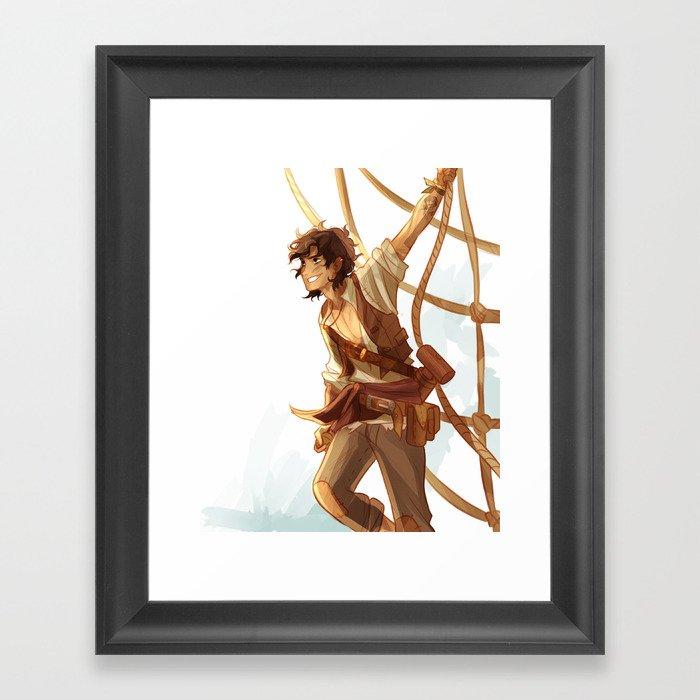 pirate leo Framed Art Print by viria | Society6