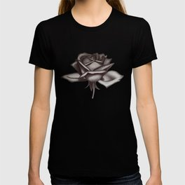Black and White Rose in Ink T-shirt