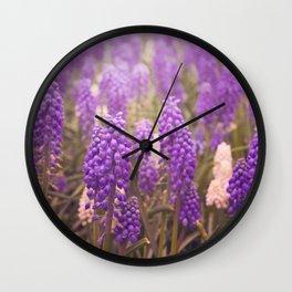 Skagit Valley Muscari Wall Clock