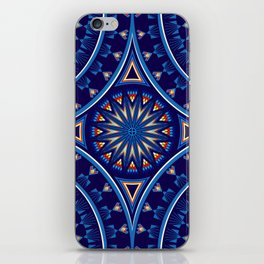 Blue Fire Keepers iPhone Skin