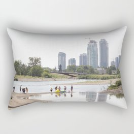 St. Patrick's Island river scene Calgary Rectangular Pillow