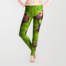 Woman African Beauty and Bamboo Leggings