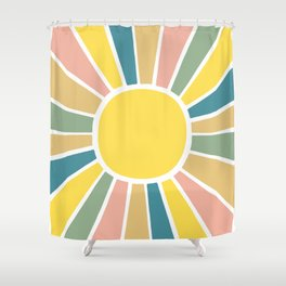 Retro Sunshine Shower Curtain