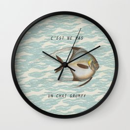The {grumpy} FISH Wall Clock