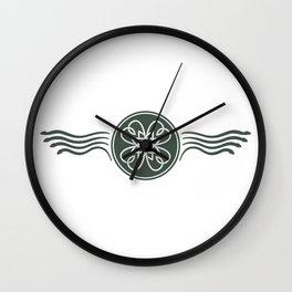 St. Patricks Badge–Dark Green Wall Clock
