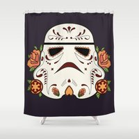 mexican Shower Curtains featuring Mexican Sugartrooper by Sophia Fredriksson Illustration
