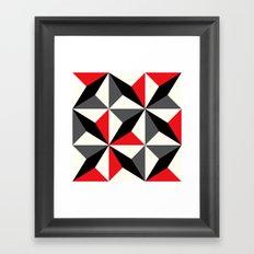 Black diamonds & red triangles Framed Art Print