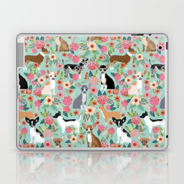 Chihuahua floral dog breed cute pet gifts for chiwawa lovers chihuahuas owners Laptop & iPad Skin