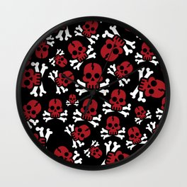 REDSKULL PATTERN Wall Clock