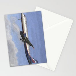 Aeroflot Airbus A321 Art Stationery Cards