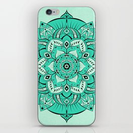 Pretty Teal Mandala iPhone Skin