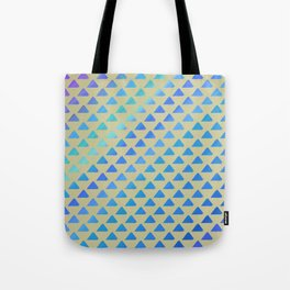 Blue green triangles Tote Bag