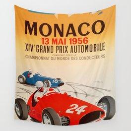 Monaco Grand Prix Poster Wall Tapestry