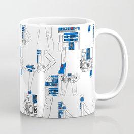 Robot Girl Cubism Coffee Mug