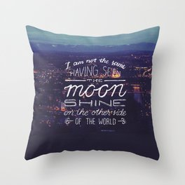 moon quote Throw Pillow