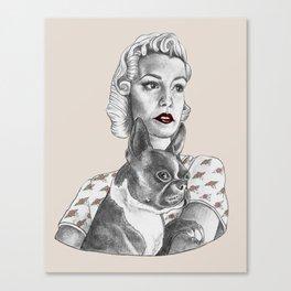 Vintage Girls Canvas Print