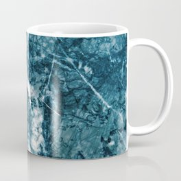 Teal Blue Marble Glam #1 #decor #art #society6 Coffee Mug