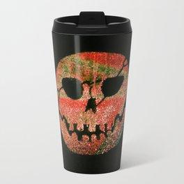 Glow skull orange Travel Mug