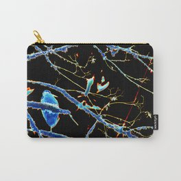 Blue Heron Neon Night Carry-All Pouch