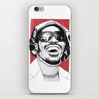 stevie nicks iPhone & iPod Skins featuring Stevie Wonder by Andy Christofi