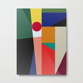Geometric Art X Metal Print