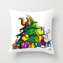 Christmas Tree Joy  Throw Pillow