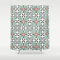 baroque Shower Curtains featuring Modern Baroque by Darien Design