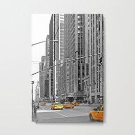 NYC - Yellow Cabs - Music Metal Print