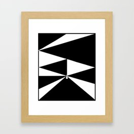 Triangles in Black and White Framed Art Print