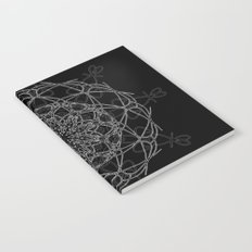 mandala in black Notebook