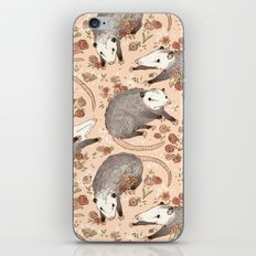 Opossum and Roses iPhone Skin