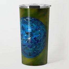 Glitter Blueball  Travel Mug