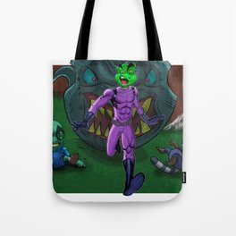 Dirk Runs Out of Panel Tote Bag