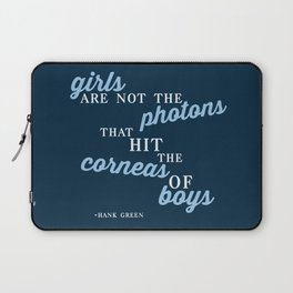 Girls Are Not Photons Laptop Sleeve