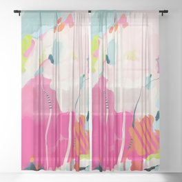 pink sky II Sheer Curtain