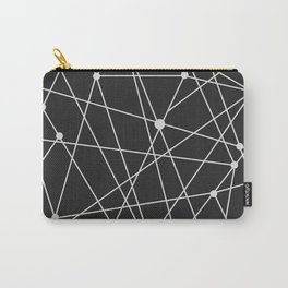 Shooting Stars in Galaxy Black & White Line Drawing Carry-All Pouch