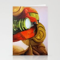 metroid Stationery Cards featuring Metroid by JeyJey Artworks
