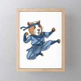 Guinea Pig Ninja Framed Mini Art Print