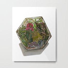 D20 Terrarium Metal Print
