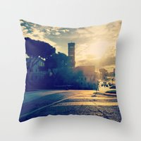 rome Throw Pillows featuring rome by xp4nder
