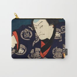 A Wary Samurai Traditional Japanese Character Carry-All Pouch