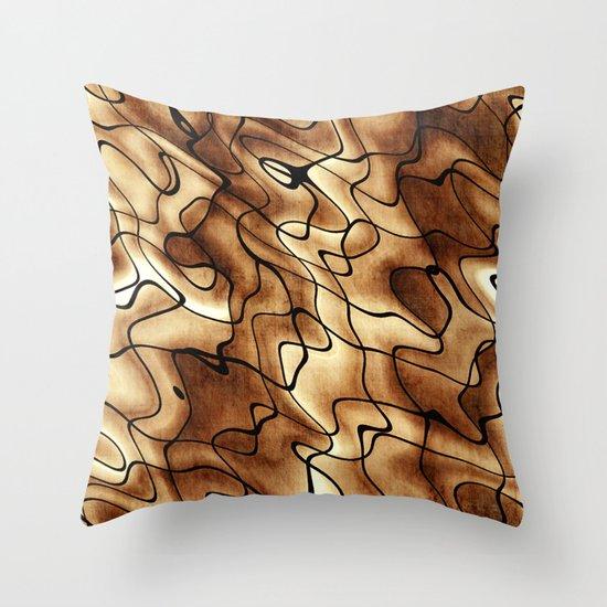 Grungy Beige Pattern Throw Pillow