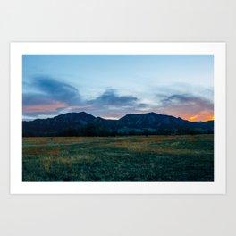 Boulder Sunset Art Print